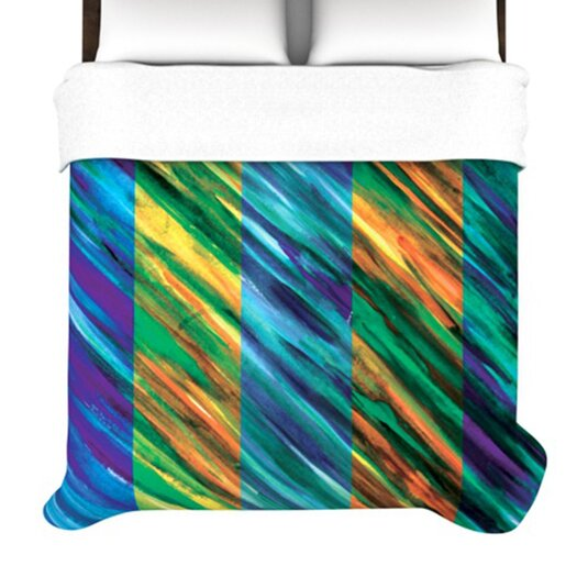 KESS InHouse Set Stripes II Duvet Cover