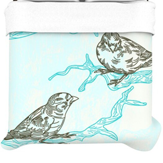 KESS InHouse Birds in Trees Duvet Cover