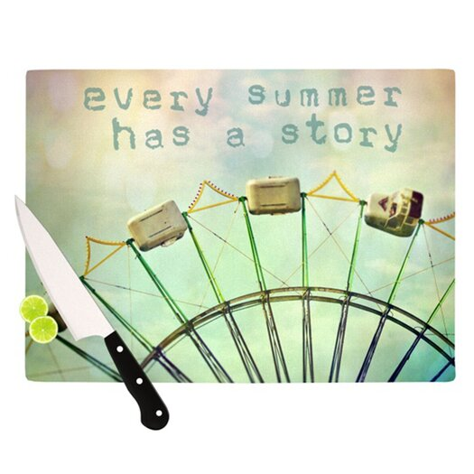 KESS InHouse Every Summer Has a Story Cutting Board