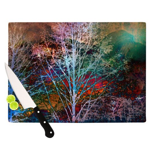 KESS InHouse Trees in the Night Cutting Board