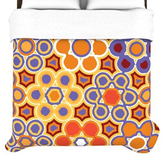 KESS InHouse Flower Garden Duvet Cover
