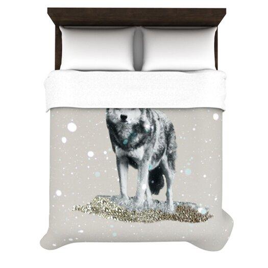 KESS InHouse Wolf Duvet Cover