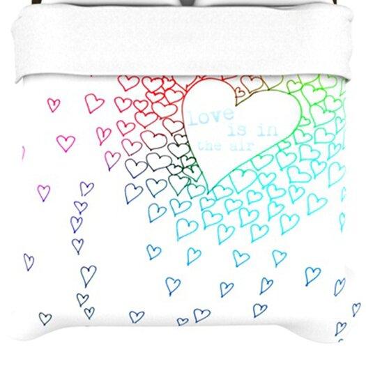 KESS InHouse Rainbow Hearts Duvet Cover