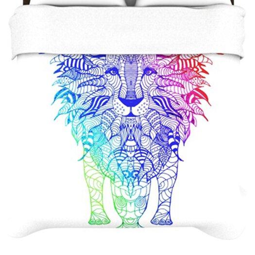 KESS InHouse Rainbow Lion Duvet Cover