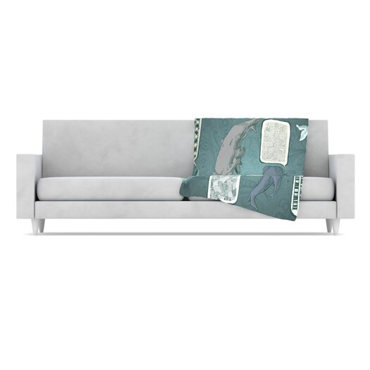KESS InHouse Whale Talk Fleece Throw Blanket
