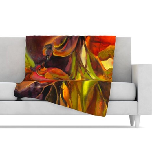 KESS InHouse Mirrored in Nature Fleece Throw Blanket