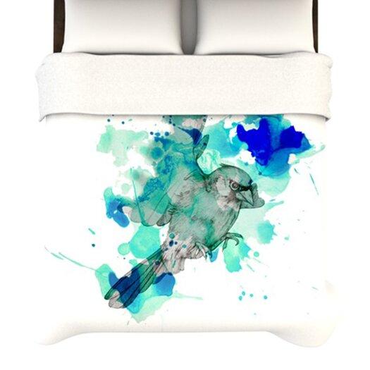 """KESS InHouse """"A Cardinal in Blue"""" Woven Comforter Duvet Cover"""