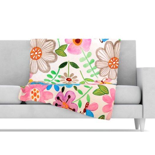 KESS InHouse The Garden Fleece Throw Blanket