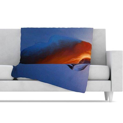 KESS InHouse Volcano Girl Fleece Throw Blanket