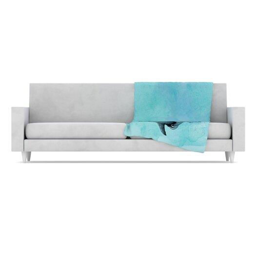 KESS InHouse Shark Record III Microfiber Fleece Throw Blanket