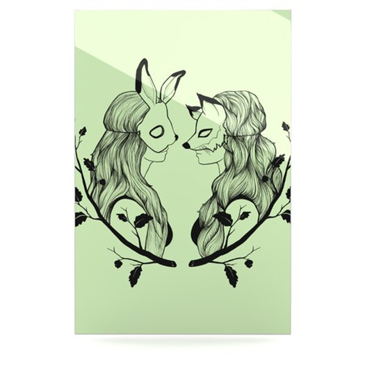 KESS InHouse Foxy Buns by Jaidyn Erickson Graphic Art Plaque