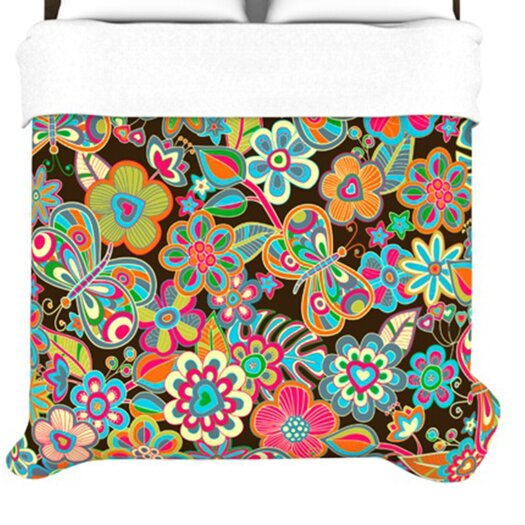 KESS InHouse My Butterflies and Flowers Duvet