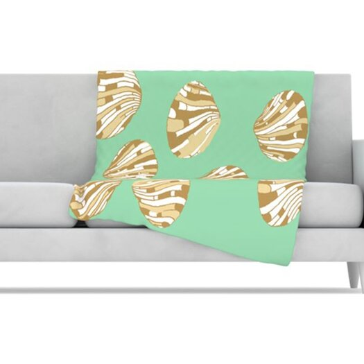 KESS InHouse Scallop Shells Fleece Throw Blanket