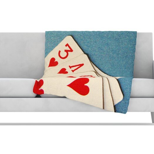 KESS InHouse Love Fleece Throw Blanket