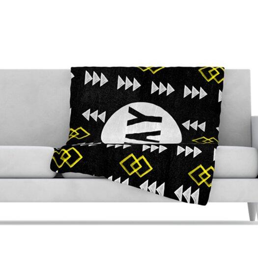 KESS InHouse Yay Fleece Throw Blanket