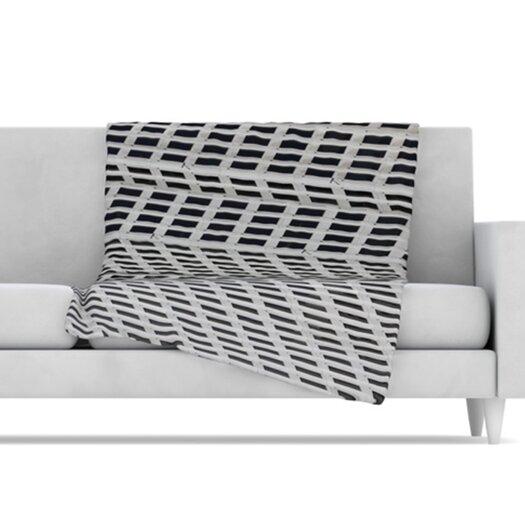KESS InHouse The Grid Fleece Throw Blanket