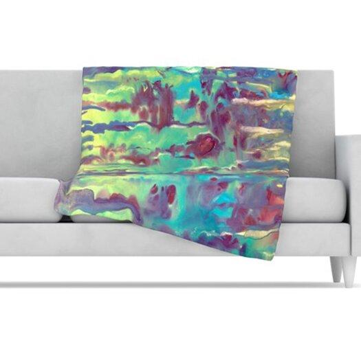 KESS InHouse Splash Fleece Throw Blanket