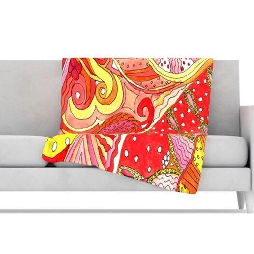 KESS InHouse Swirls Fleece Throw Blanket