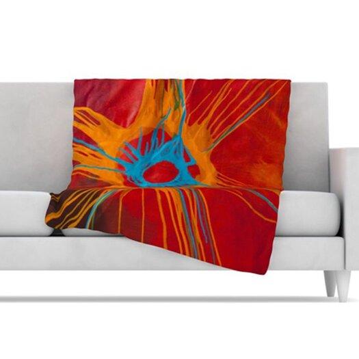 KESS InHouse Eclipse Fleece Throw Blanket