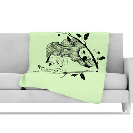 KESS InHouse Foxy Buns Microfiber Fleece Throw Blanket