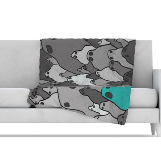 KESS InHouse Ghosts Microfiber Fleece Throw Blanket