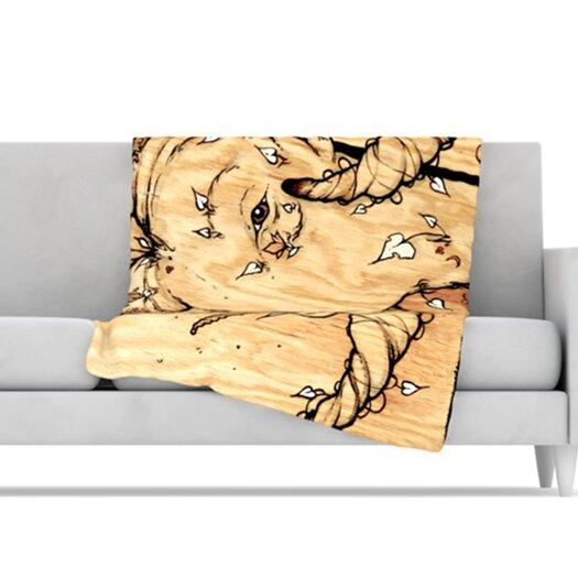 KESS InHouse Ram Microfiber Fleece Throw Blanket