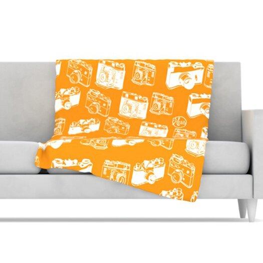 KESS InHouse Camera Pattern Microfiber Fleece Throw Blanket