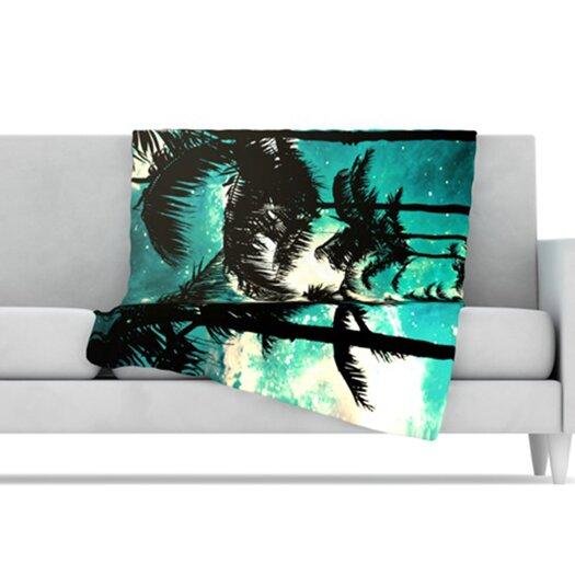 KESS InHouse Palm Trees and Stars Microfiber Fleece Throw Blanket