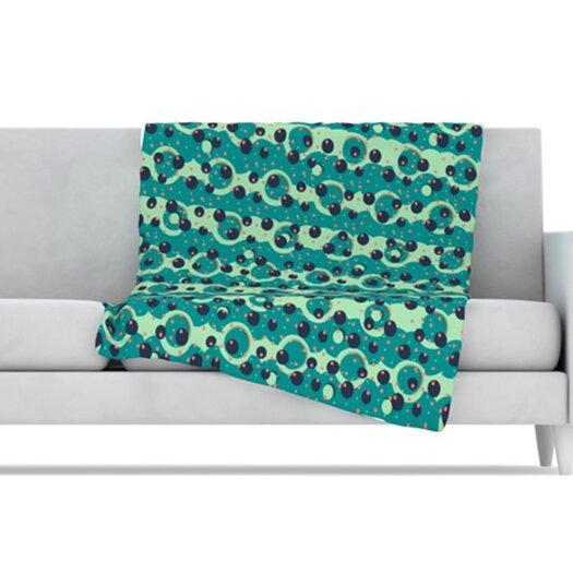 KESS InHouse Bubbles Made of Paper Microfiber Fleece Throw Blanket