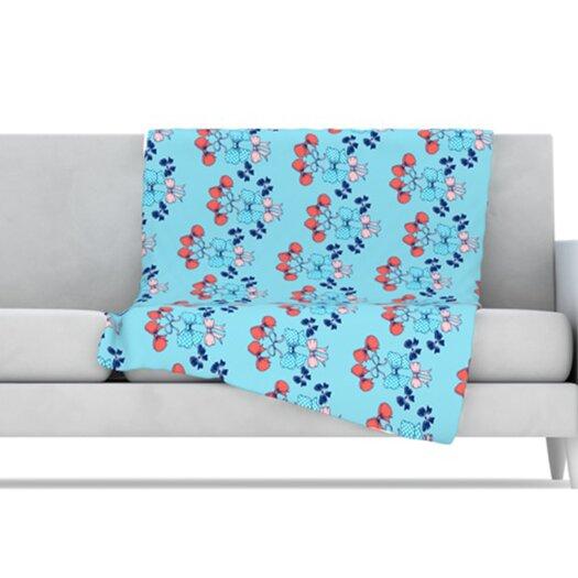 KESS InHouse Bows Microfiber Fleece Throw Blanket