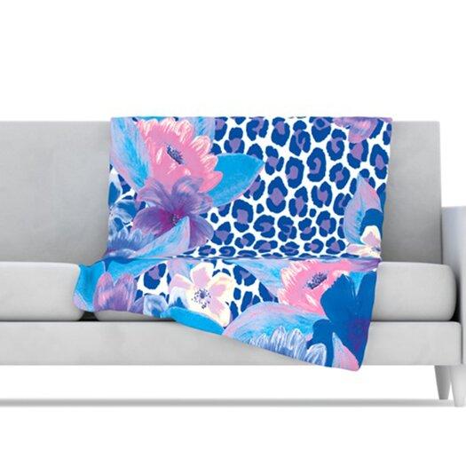 KESS InHouse Leopard Microfiber Fleece Throw Blanket