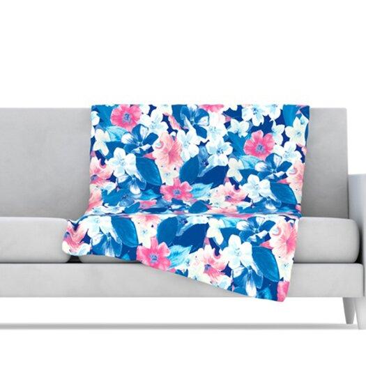 KESS InHouse Bloom Microfiber Fleece Throw Blanket