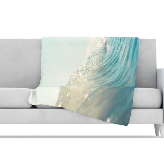 KESS InHouse The Wave Microfiber Fleece Throw Blanket