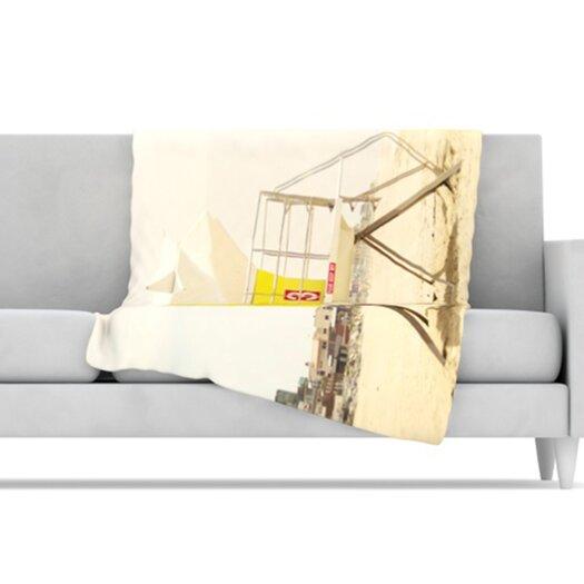 KESS InHouse Tower Microfiber Fleece Throw Blanket