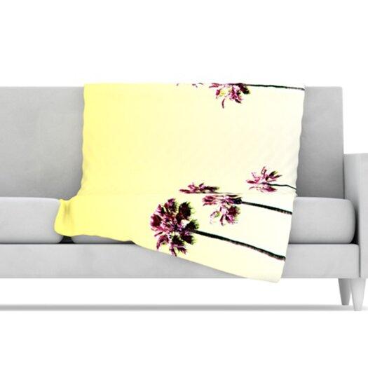 KESS InHouse Trees Microfiber Fleece Throw Blanket