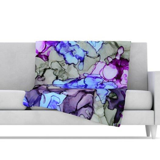 KESS InHouse String Theory Microfiber Fleece Throw Blanket