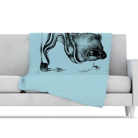 KESS InHouse Hot Tub Hunter II Microfiber Fleece Throw Blanket