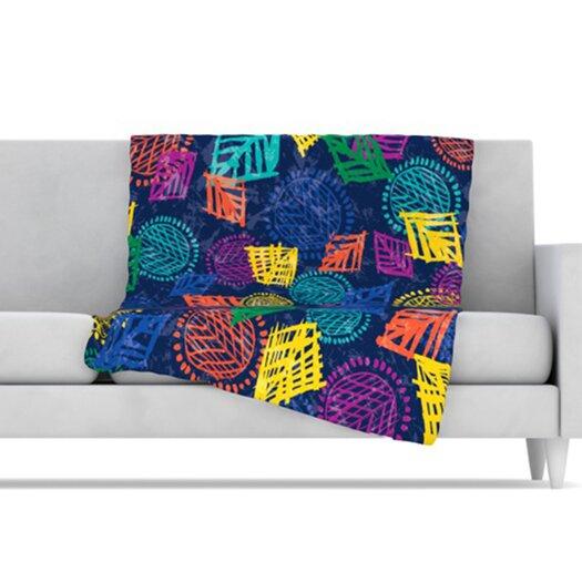 KESS InHouse African Beat Microfiber Fleece Throw Blanket