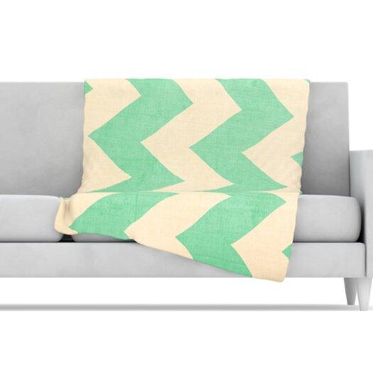 KESS InHouse Malibu Microfiber Fleece Throw Blanket