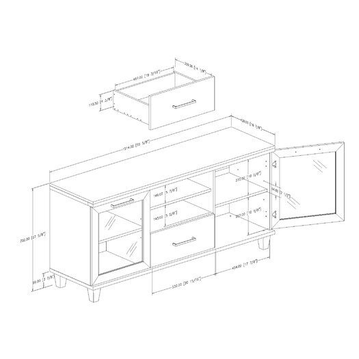 """South Shore Adrian 60"""" TV Stand"""