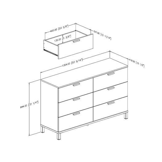 South Shore Flexible 6 Drawer Dresser