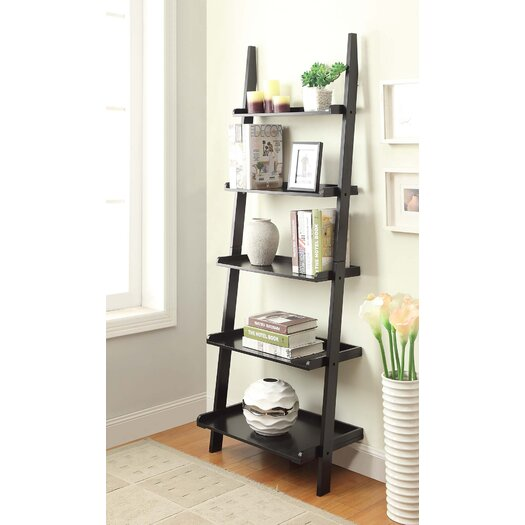 "Convenience Concepts American Heritage 72"" Ladder Bookcase"