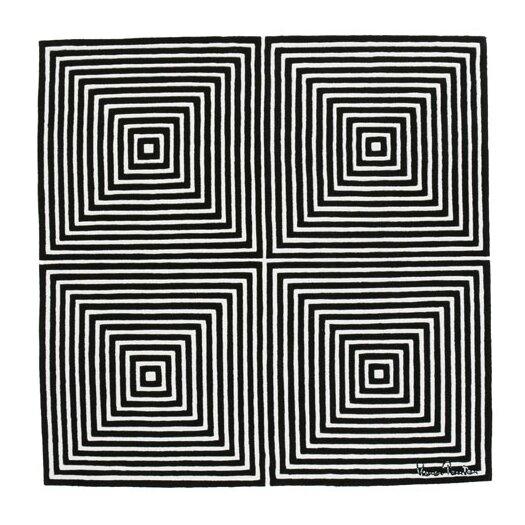 Designer Carpets Verner Panton VP I Black Area Rug