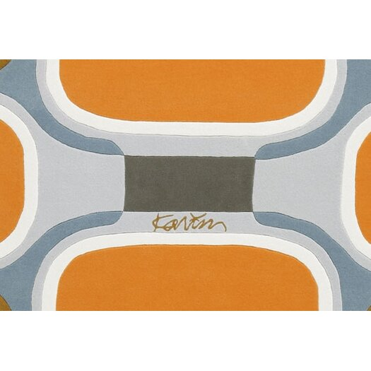 Designer Carpets Karim Rashid KR TS OB Orange/Blue Area Rug