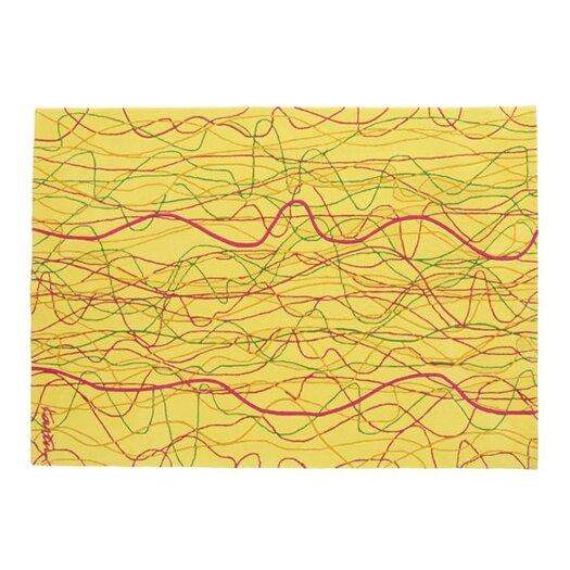 Designer Carpets Karim Rashid KR KSG Yellow/Pink Area Rug