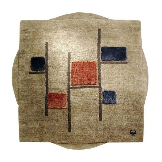 Pierre Paulin Painting Dutchman Carpet Beige Area Rug