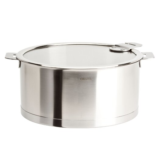 Cristel Strate Sauce Pot with Lid and Optional Handle