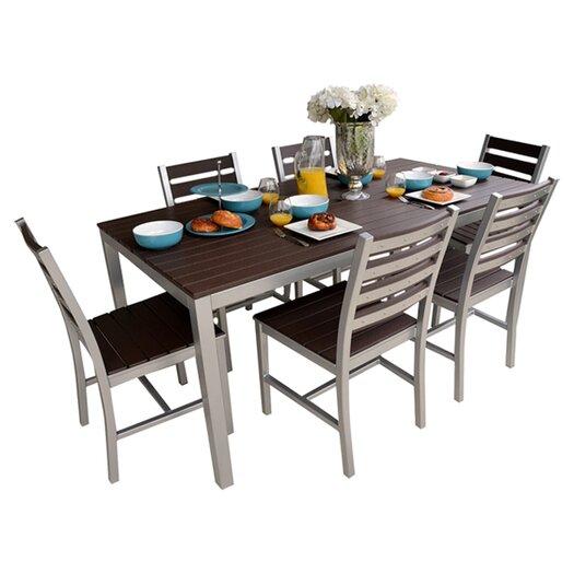 """Elan Furniture Loft 72""""x36"""" Outdoor Dining Set"""
