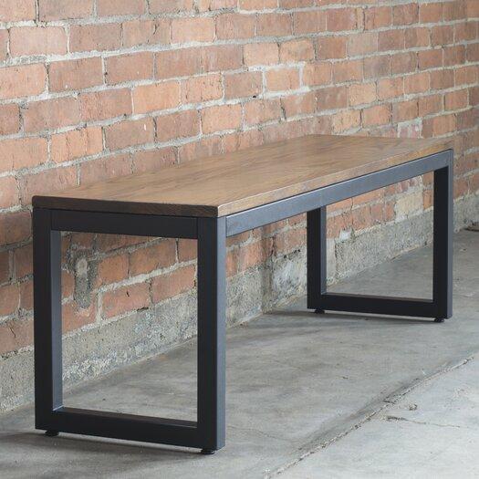 Loft Wood/Metal Dining Bench