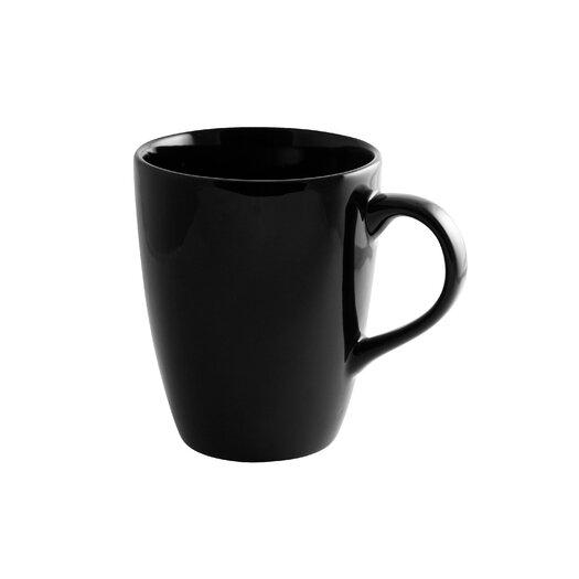 Ten Strawberry Street Black Rim 12 oz. Tall Barrel Mug